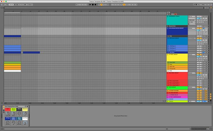 Trance Ableton 10 template